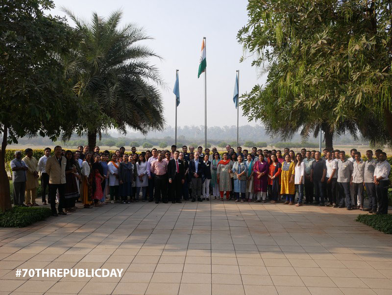 AURO University celebrated the 70th Republic Day on January 26th, 2019.