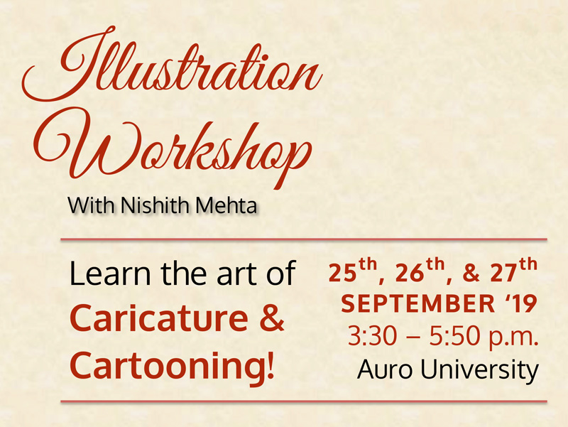 Illustration workshop organized by AURO Center For Fine Arts