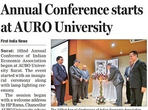 IEA Conference hosted at AURO University