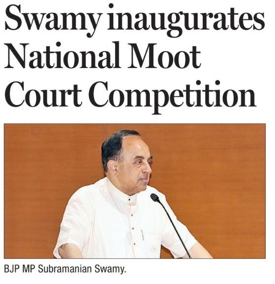 Dr. Subramanian Swamy at AURO National Moot Court Competition
