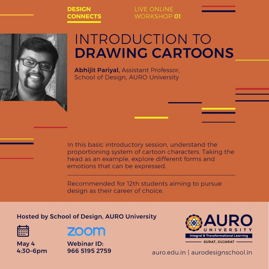 Introduction to DRAWING CARTOONS – Abhijit Pariyal, Assistant